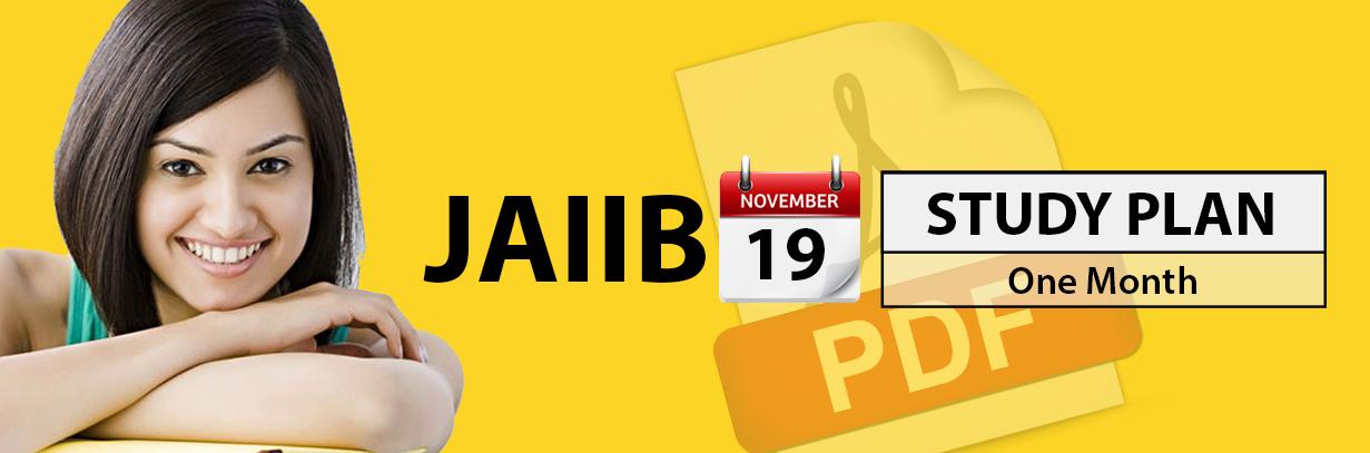 JAIIB One Month Study Plan - Nov 2019