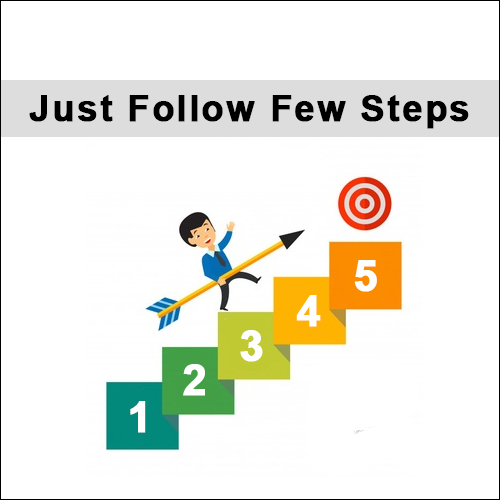 follow few steps